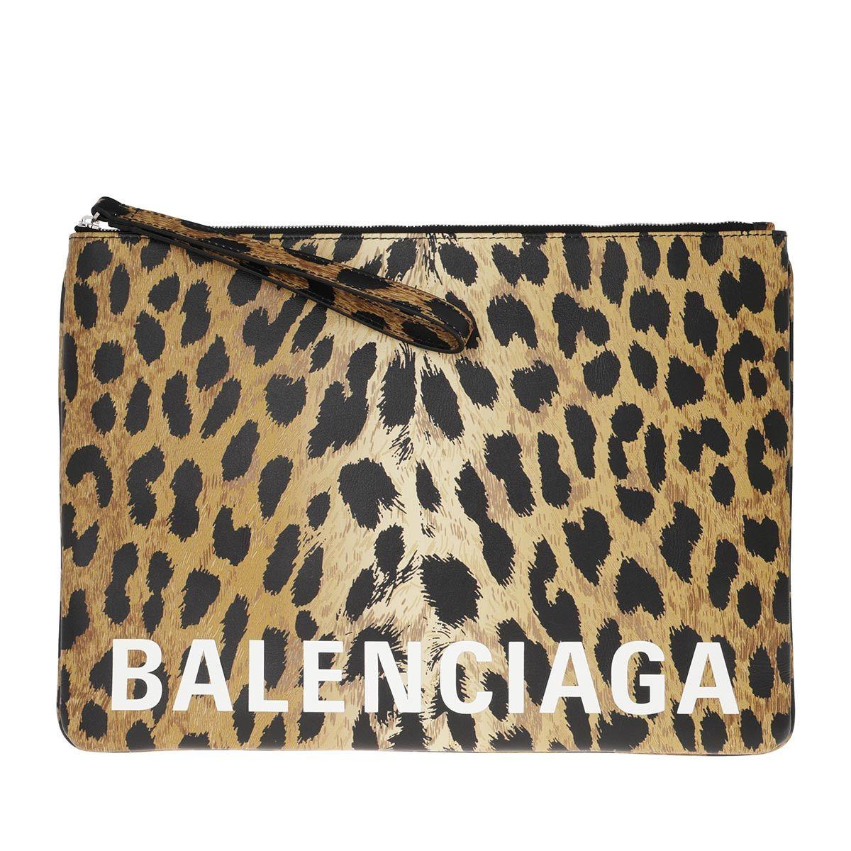 Balenciaga Pochette - Zipped Logo Pouch Multi - in braun - für Damen