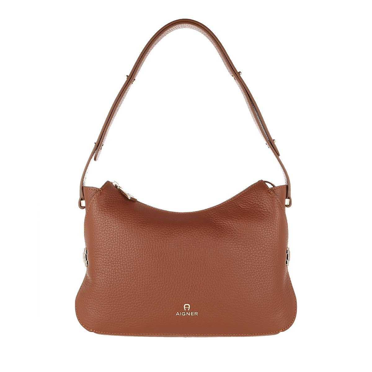 Aigner Hobo Bag - Milano Mini Shoulder Bag Cognac - in braun - für Damen