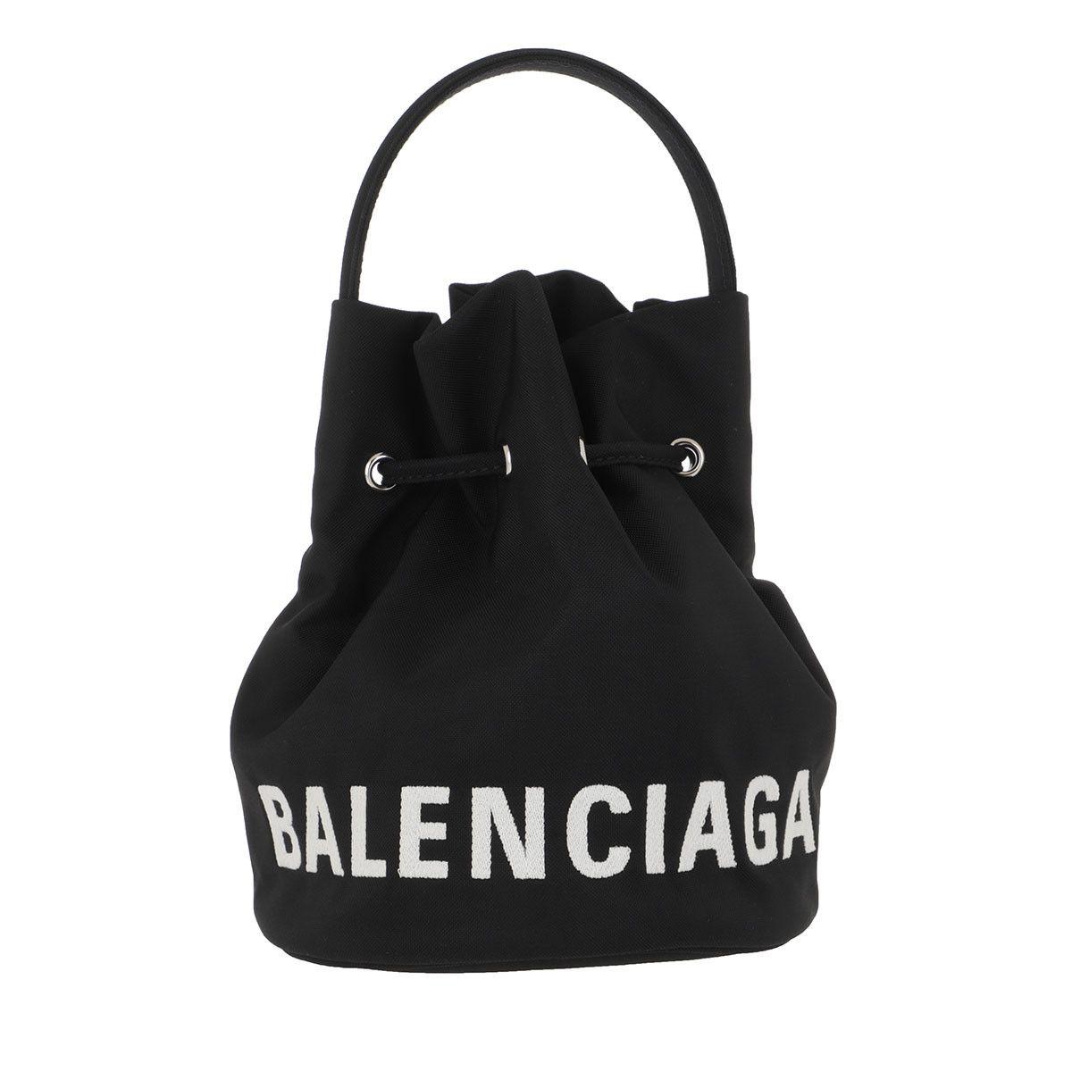 Balenciaga Beuteltasche - Wheel XS Bucket Bag Black - in schwarz - für Damen