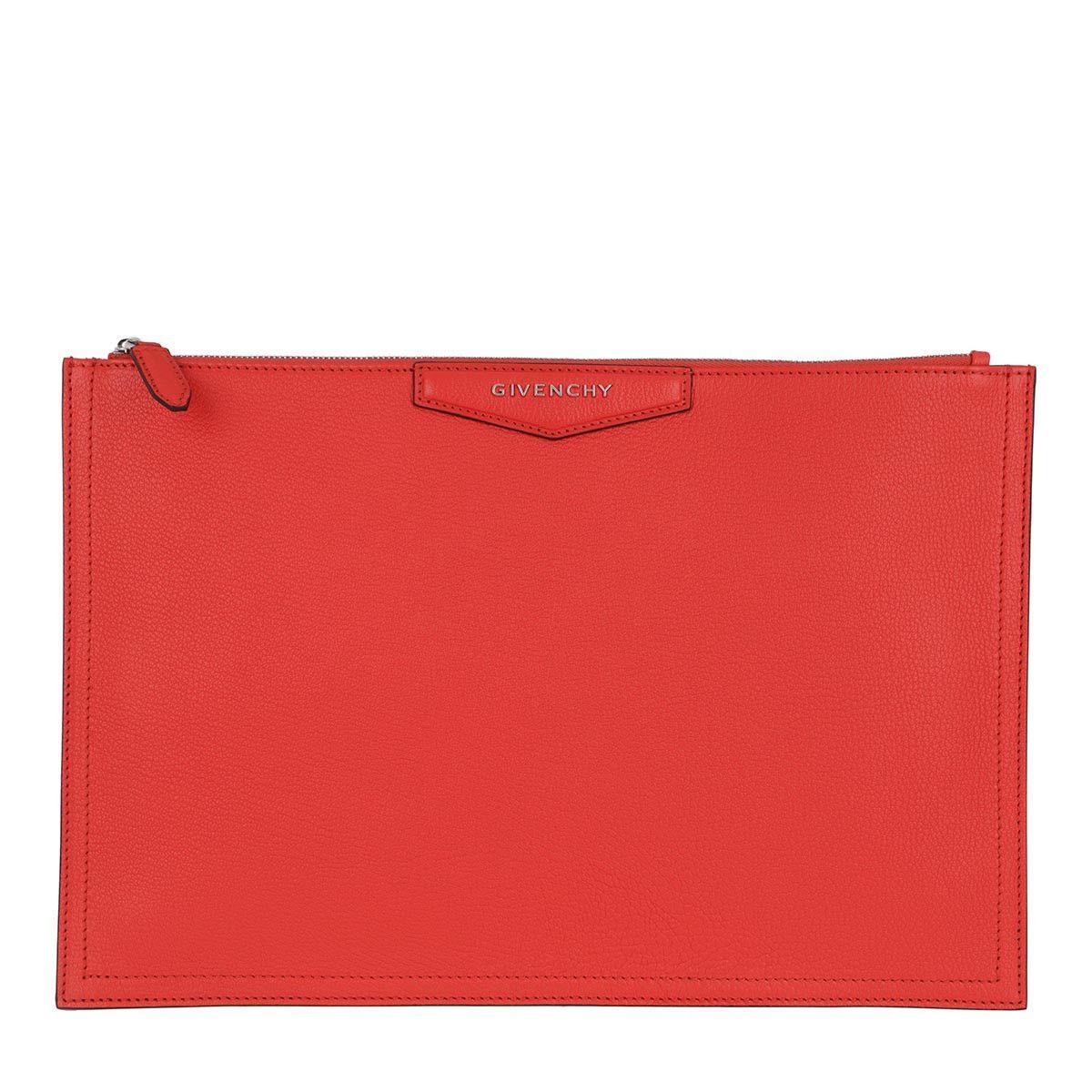 Givenchy Pochette - Antigona Pouchette Large Leather Red - in rot - für Damen
